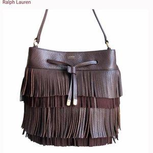 Lauren by Ralph Lauren leather fringe handbag